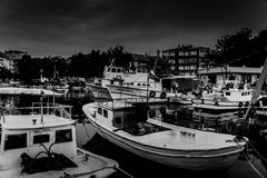 Mún tiempo de Marina And Fishermen Shelter In Fotos de archivo