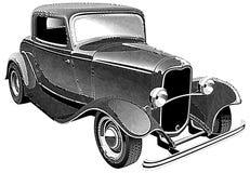 Músculo do vintage que car_engraing ilustração royalty free