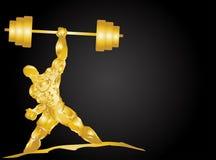 Músculo dourado Imagem de Stock