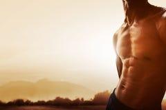 Músculos abdominais do homem Imagens de Stock Royalty Free