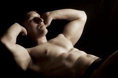 Músculos abdominales Imágenes de archivo libres de regalías