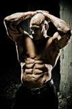 Músculos abdominales del Bodybuilder Fotografía de archivo