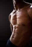 Músculos abdominales del hombre Foto de archivo libre de regalías