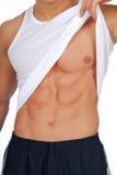 Músculos masculinos do abdome Imagens de Stock Royalty Free