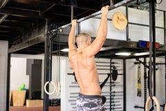 Músculos traseiros em homens foto de stock royalty free