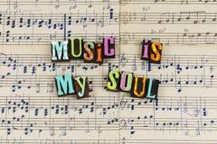 A música é minha alma fotografia de stock