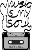 A música é minha alma Imagem de Stock