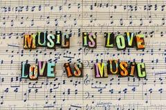 A música é relacionamento do amor fotos de stock royalty free
