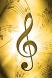 Música ilustração stock