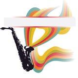 Música abstracta del vector Imagen de archivo