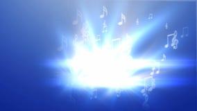 Música abstracta en fondo azul ilustración del vector