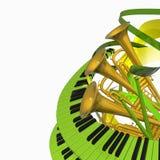 Música abstrata ilustração do vetor