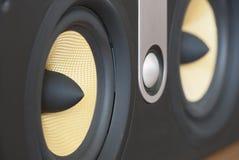 Música alta do conceito dos difusores do orador imagem de stock