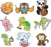 Música animal do jogo ilustração stock
