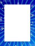 A música anota a beira/frame Fotografia de Stock