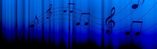 A música anota o encabeçamento Fotografia de Stock