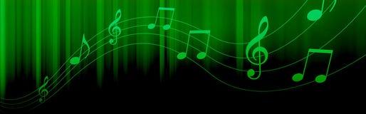 A música anota o encabeçamento Fotografia de Stock Royalty Free