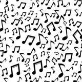 A música anota o teste padrão Fundo do vetor Fotografia de Stock Royalty Free