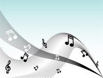 A música anota o vetor Imagens de Stock