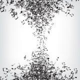 A música anota a textura Foto de Stock Royalty Free
