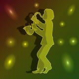 Música, beleza, vida, saxofone. Imagens de Stock