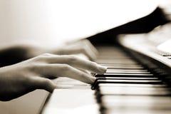 Música blanda del piano Imagen de archivo libre de regalías