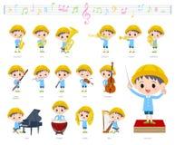 Música boy_classic do infantário ilustração do vetor