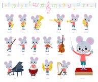 Música boy_classic do rato animal ilustração stock
