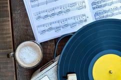 Música & café Imagens de Stock