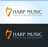 Música celta, logotipo ilustração stock