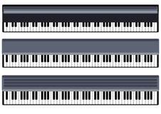 Música Chaves do objeto do vetor do piano Fotografia de Stock