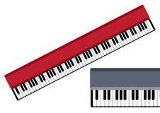 Música Chaves do objeto do vetor do piano Imagens de Stock