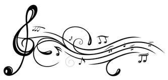Música, clave stock de ilustración