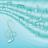 Música. Clef e notas de triplo. Imagens de Stock Royalty Free