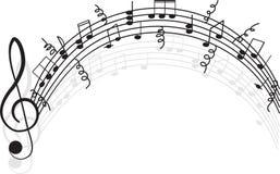 Música. Clef e notas de triplo para seu projeto. Imagem de Stock