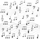 Música. Clef e notas de triplo para seu projeto. Fotos de Stock Royalty Free