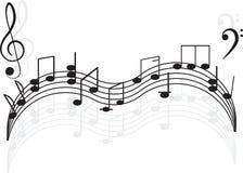 Música. Clef e notas de triplo para seu projeto Imagem de Stock