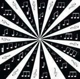 Música. Clef e notas de triplo para seu projeto Fotografia de Stock Royalty Free