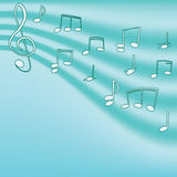 Música. Clef e notas de triplo para seu projeto Imagens de Stock Royalty Free