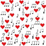Música Clef e notas de triplo para seu projeto Imagens de Stock Royalty Free