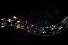 Música colorida Fotografia de Stock Royalty Free