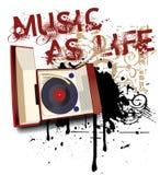 Música como a vida ilustração do vetor