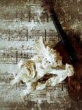 Música con ángel y el grunge del violín Imagen de archivo libre de regalías