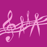 Música cor-de-rosa da fita Imagens de Stock