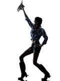 Música country feliz del baile del bailarín de la muchacha de la vaca de la mujer Foto de archivo libre de regalías