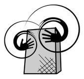 Música creativa del rectángulo Fotografía de archivo
