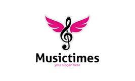 A música cronometra o logotipo Fotografia de Stock