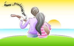 Música da amizade Imagem de Stock