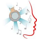Música da audição Imagem de Stock