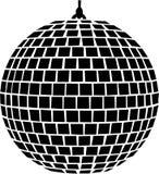 Música da bola do espelho ilustração stock